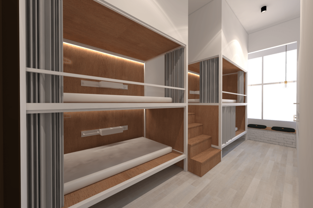 Dorm Type B_1 - 4 Pax Wayfarer Hotel